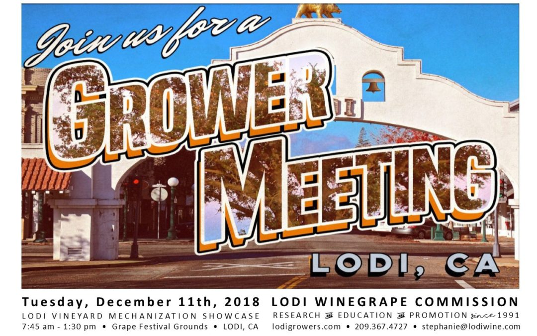 LODI VINEYARD MECHANIZATION SHOWCASE | 12.11.2018