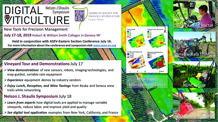 SHAULIS SYMPOSIUM AT ASEV-ES FOCUSES ON DIGITAL VITICULTURE