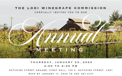 LODI WINEGRAPE COMMISSION ANNUAL MEETING.