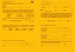 FLC registration card