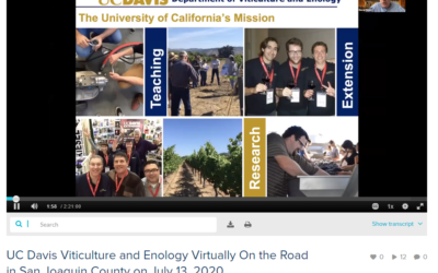 UC DAVIS V&E VIRTUALLY ON THE ROAD IN LODI RECAP